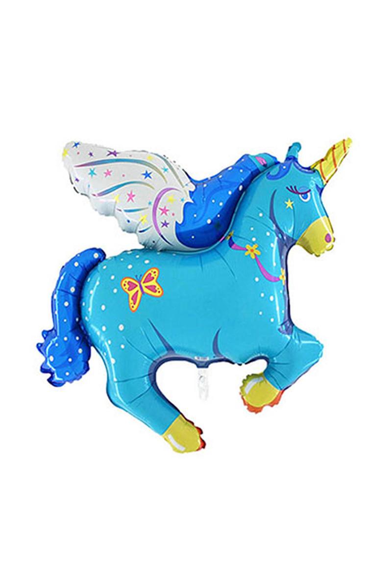 Unicorn Supershape Folyo Balon Mavi 120cm x 90cm 1 Adet