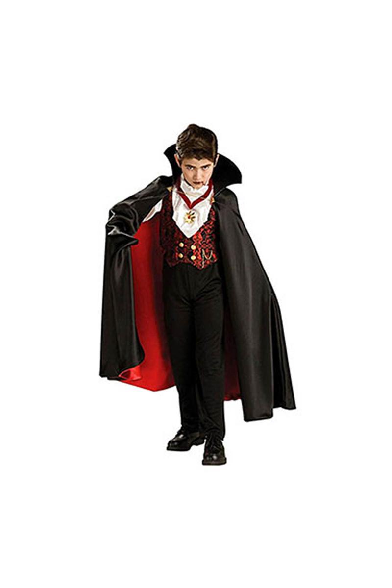 Vampir Lüks Çocuk Kostümü 4-6 Yaş 1 Adet - Thumbnail