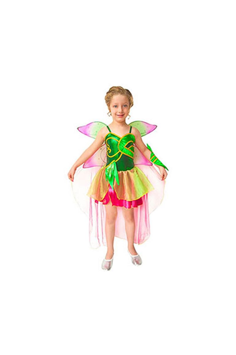 Winx Flora Kostüm 7-9 Yaş 1 Adet
