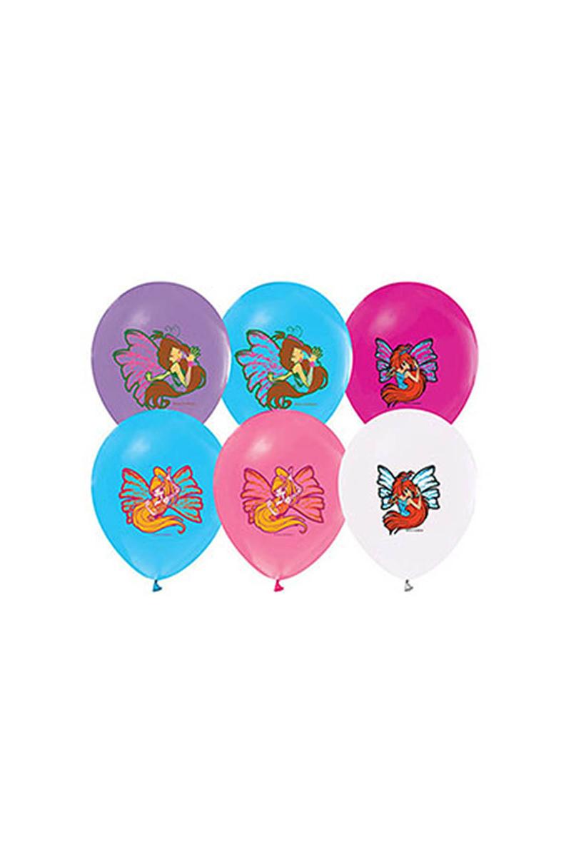 Winx Powerment Baskılı Balon 10lu