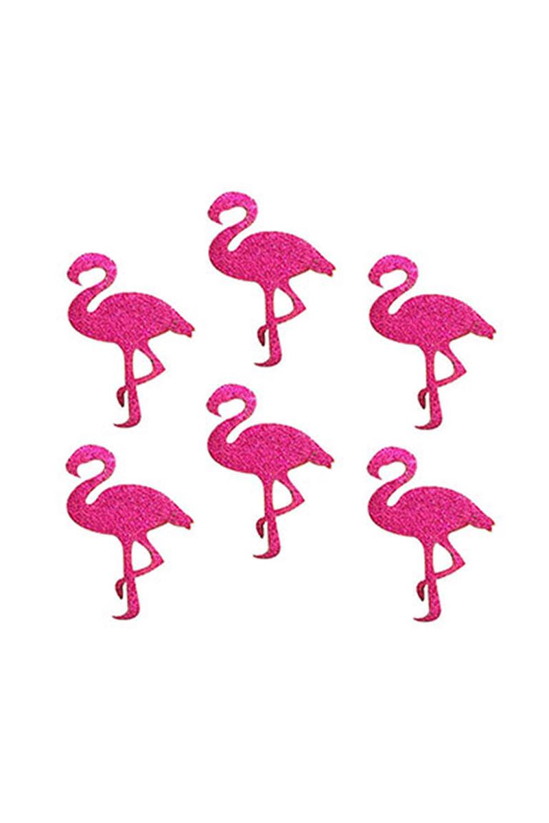 Yapışkanlı Simli Eva Flamingo 4cm 6lı