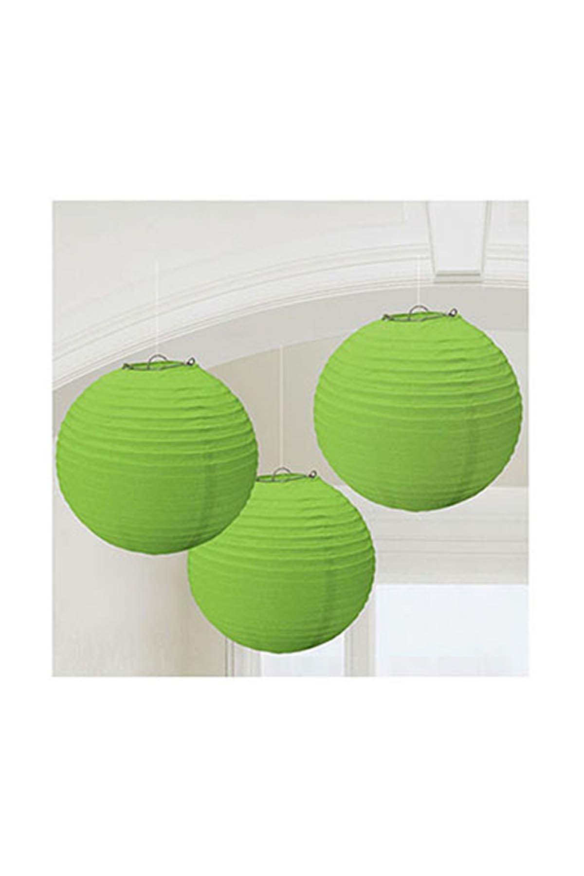 Yeşil Kağıt Fener Seti