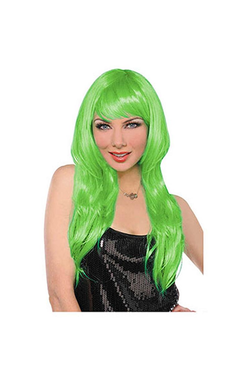 Yeşil Uzun Peruk 1 Adet