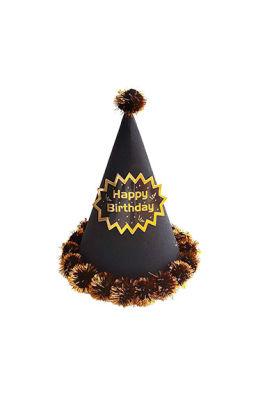 Yetişkin Külah Şapka Ponponlu Siyah