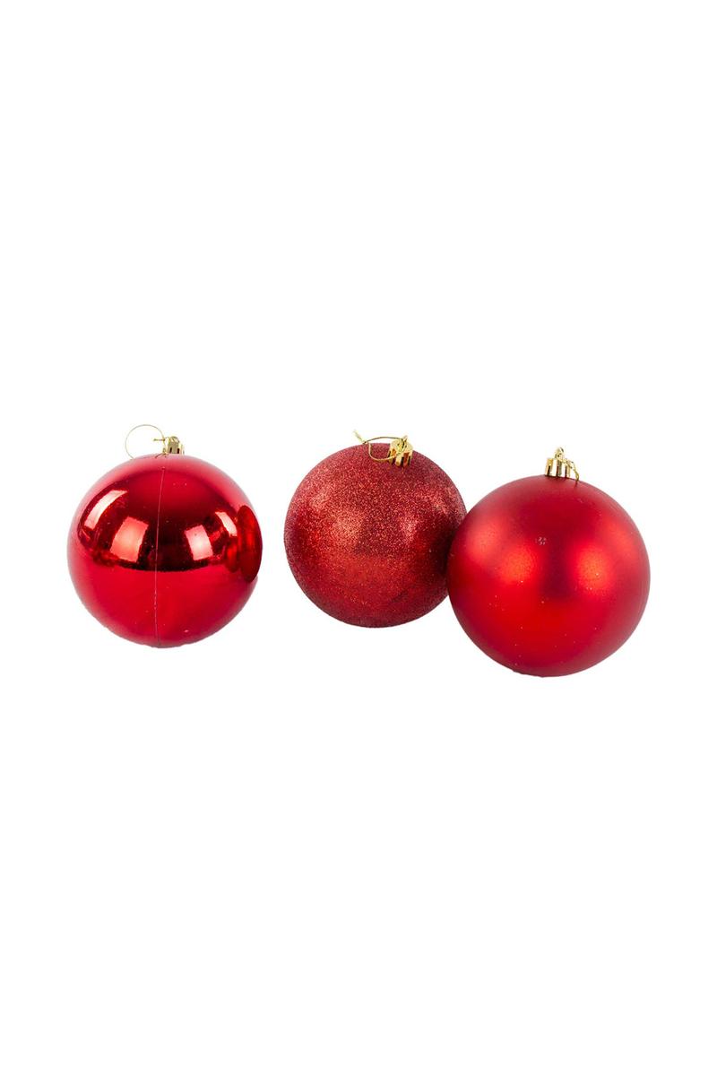 Yılbaşı Çam Ağacı Süsü Kırmızı 4cm 12li