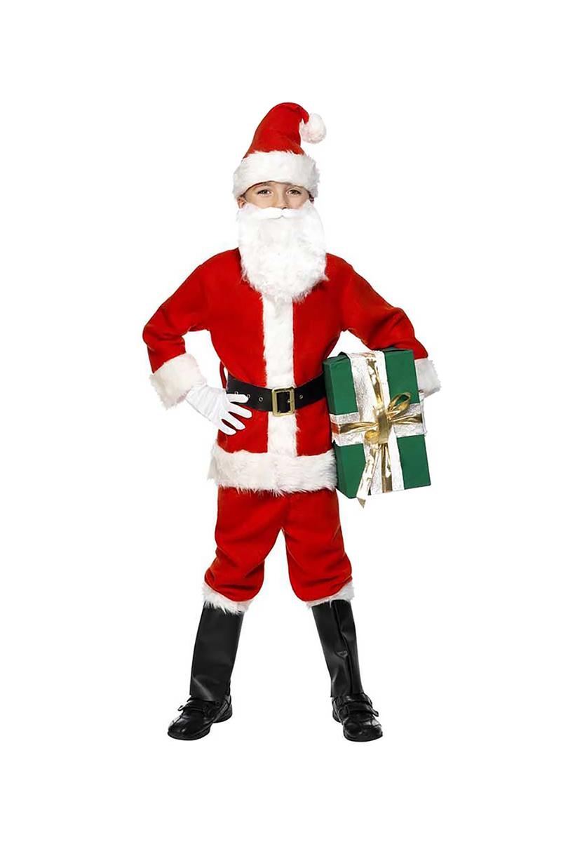 Yılbaşı Çocuk Noel Baba Kostümü 5-6 Yaş 1 Adet