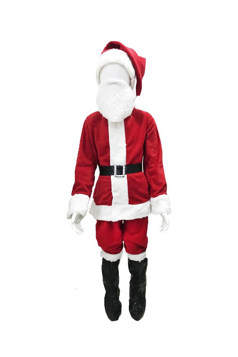Yılbaşı Çocuk Noel Baba Kostümü 5-6 Yaş 1 Adet - Thumbnail