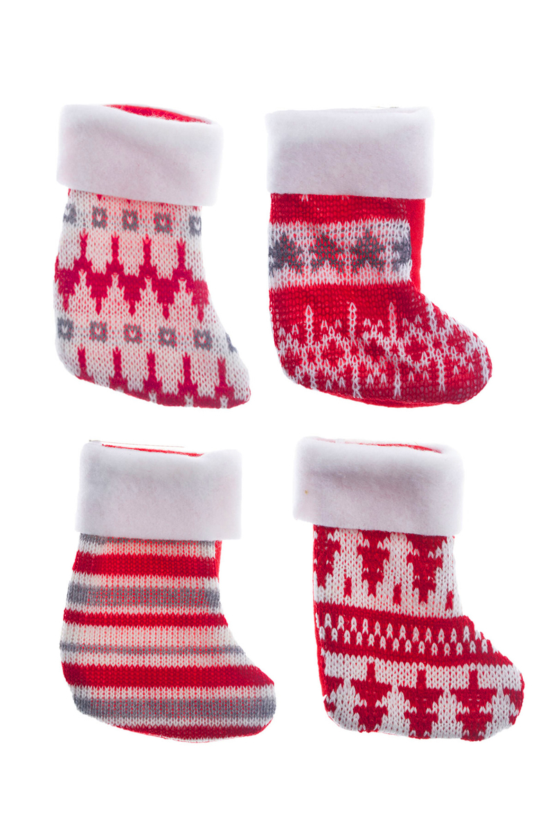Yılbaşı Çorabı Karışık Desenli 13,5cm 1 Adet