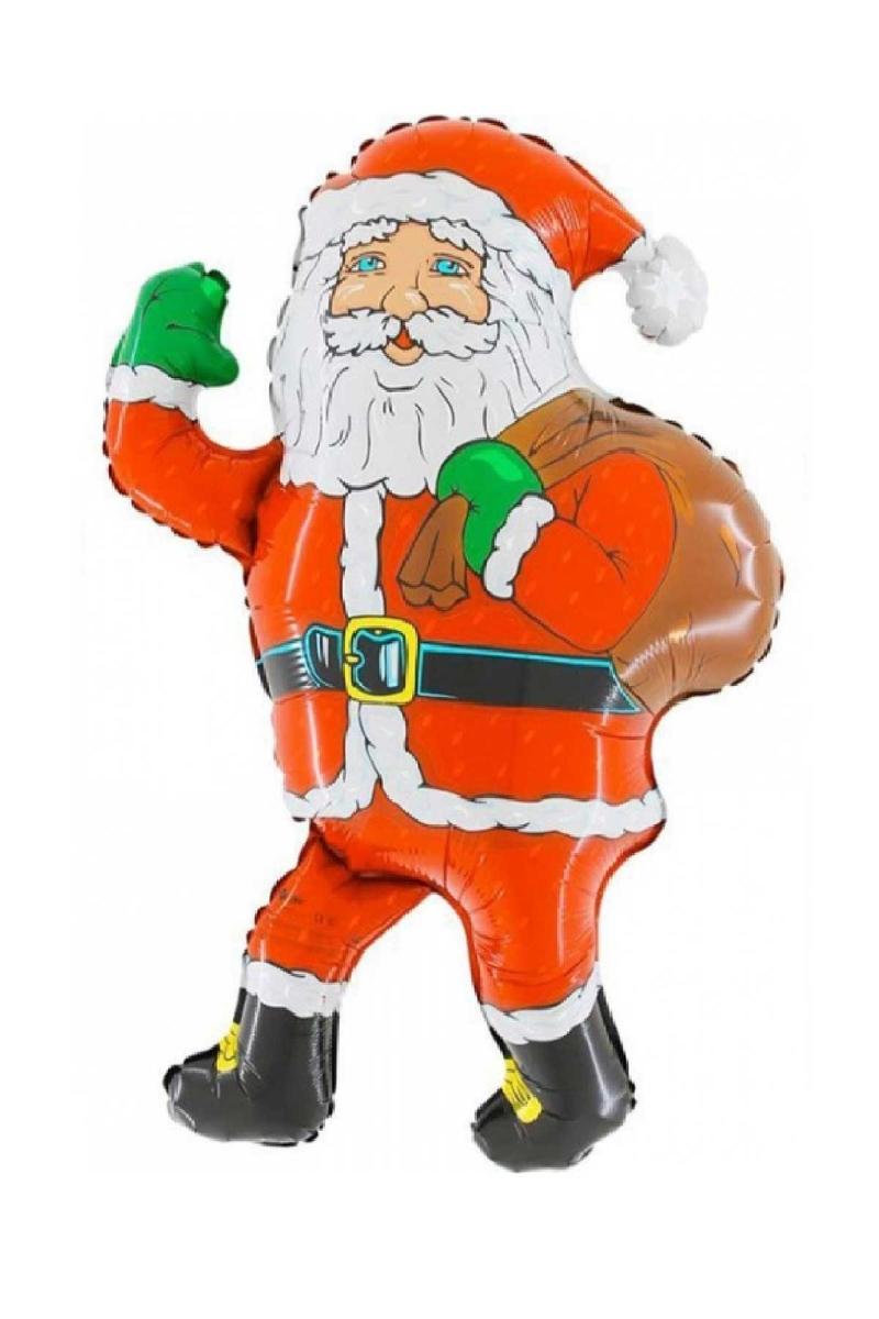 Yılbaşı Hediye Çuvallı Noel Baba Şekilli Folyo Balon 78cm 1 Adet