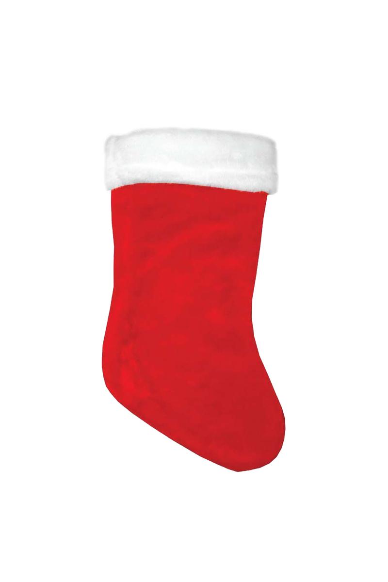 Yılbaşı Kadife Hediye Çorabı 40cm 1 Adet