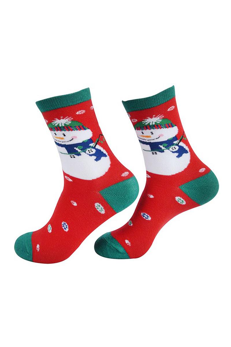 Yılbaşı Kardan Adam Desenli Kadın Çorabı 1 Çift