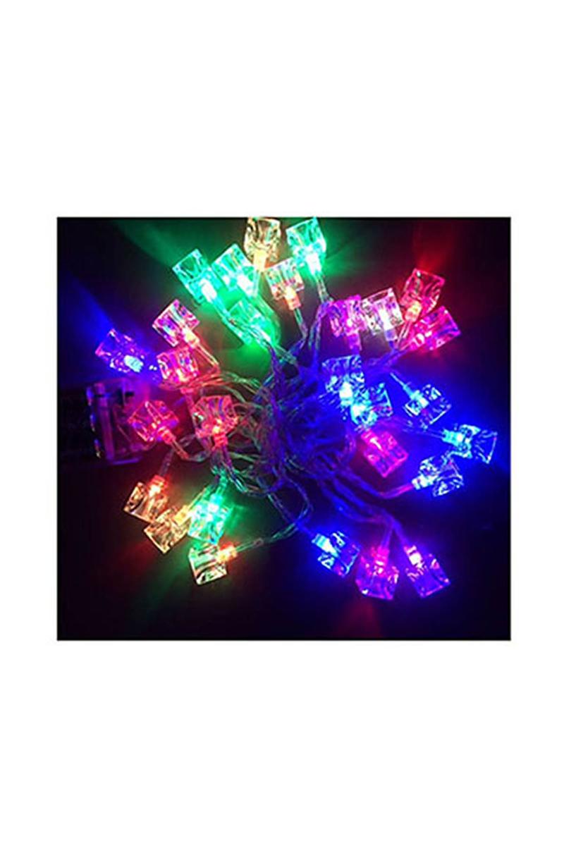 Yılbaşı Küp Pilli Led Işık 5m 28 Ampül Renkli 1 Adet