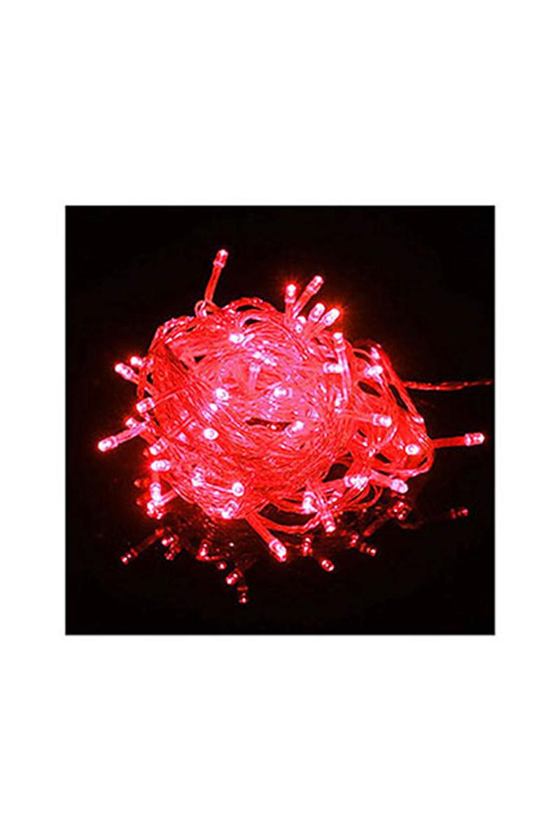 Yılbaşı Led Işık Fonksiyonlu 10m 100 Ampül Kırmızı 1 Adet