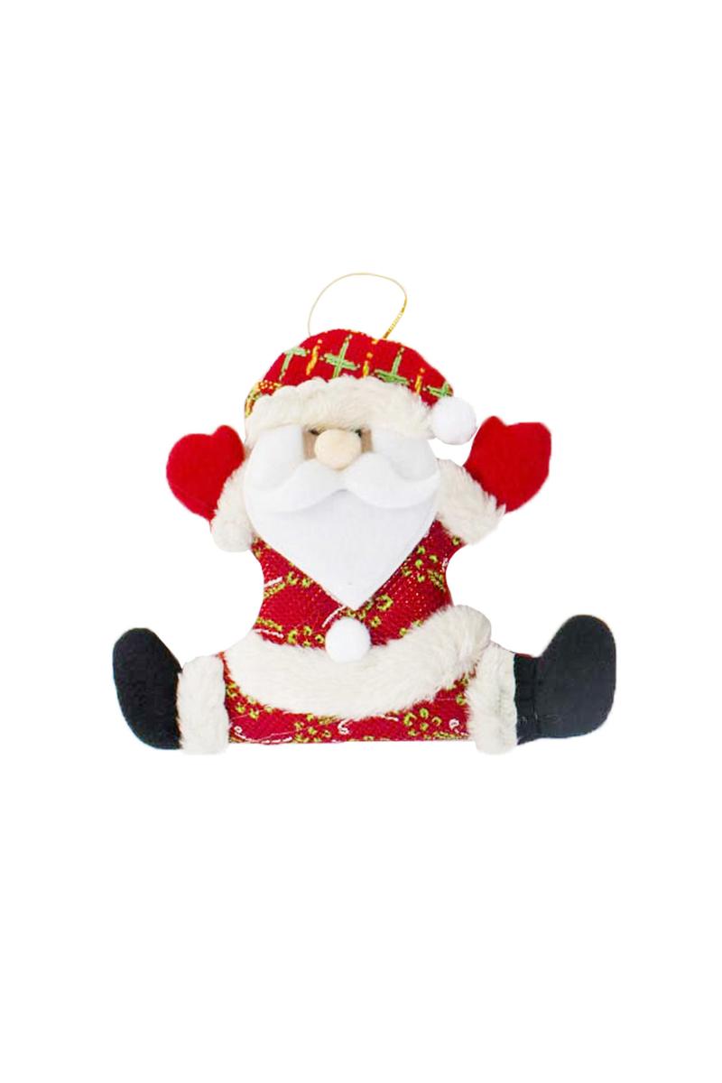 Yılbaşı Mutlu Noel Baba Pelüş Asma Süs 16 x 16cm