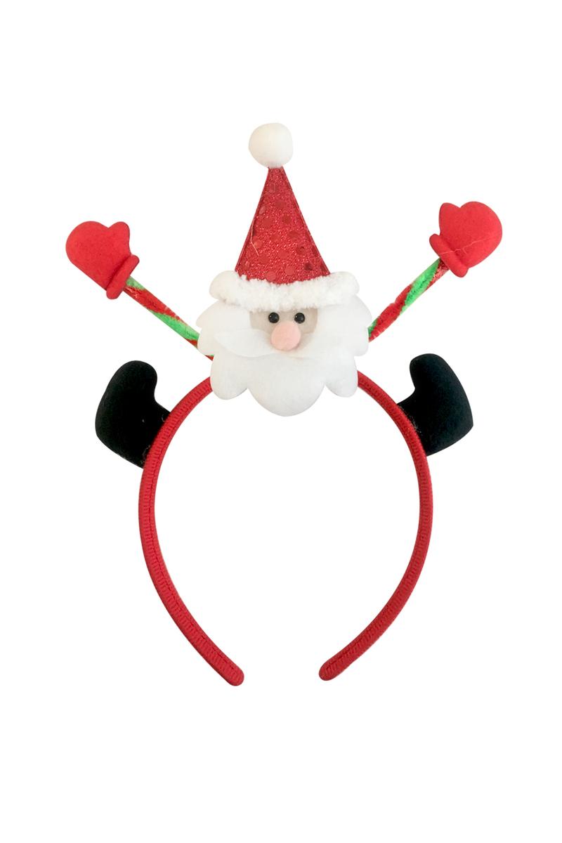 Yılbaşı Noel Baba Ayaklı Taç 1 Adet - Thumbnail