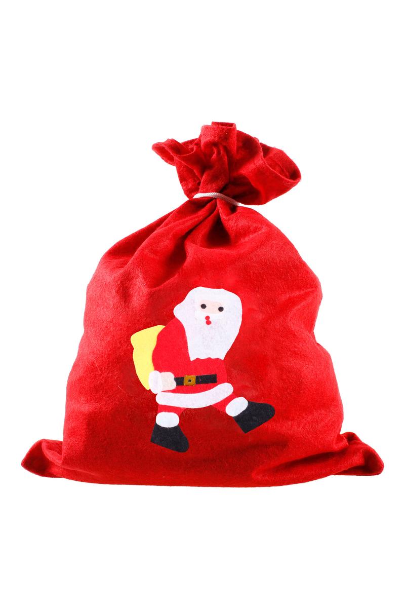 Yılbaşı Noel Baba Hediye Çuvalı 30 x 40cm 1 Adet - Thumbnail