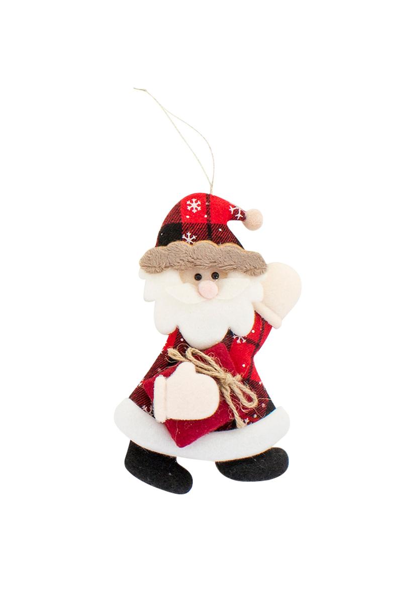 Yılbaşı Noel Baba Pelüş Asma Süs 15cm 1 Adet