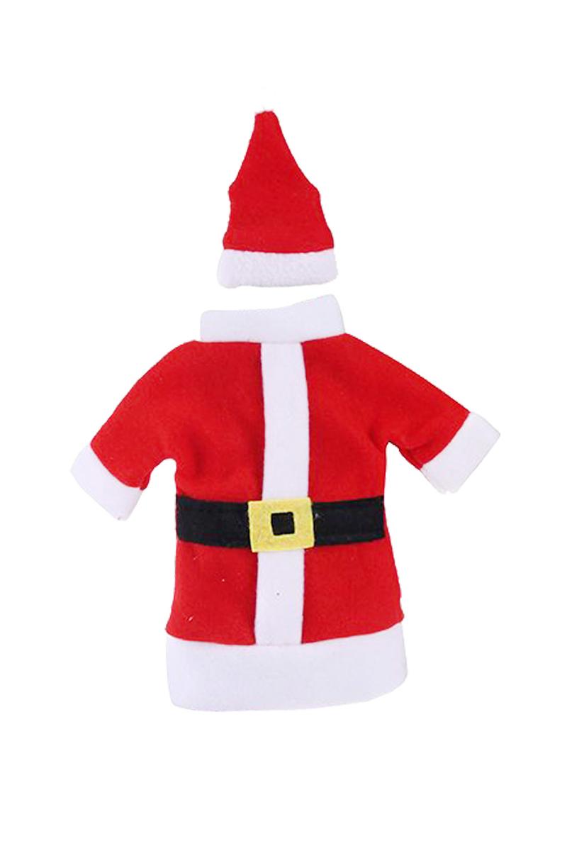 Yılbaşı Noel Kadife Şişe Kostümü 11 X 20cm 1 Adet