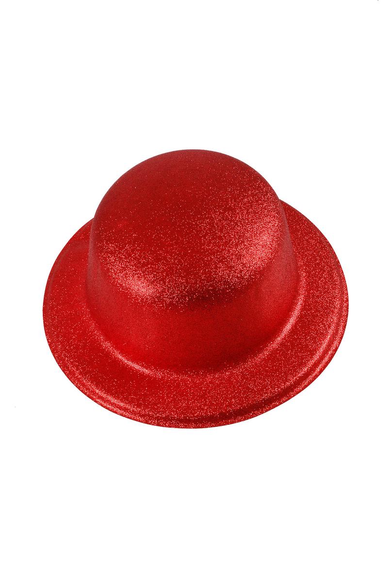 Yılbaşı Simli Plastik Şapka Kırmızı 1 Adet