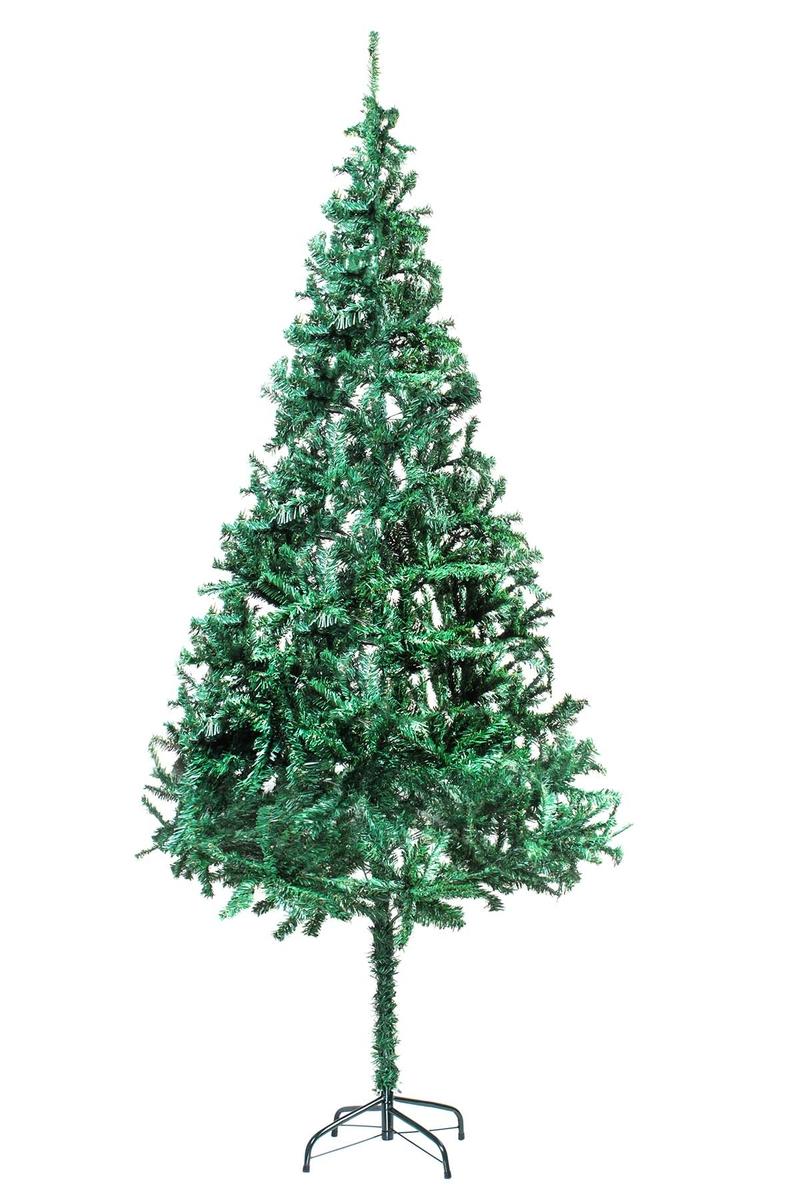 Yılbaşı Yeşil Çam Ağacı Metal Ayaklı 210cm 750 Dal 1 Adet