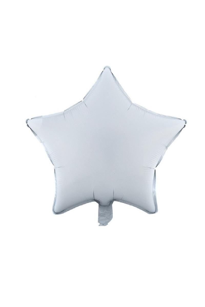 Yıldız Folyo Balon 45cm (18 inch) Beyaz 1 Adet
