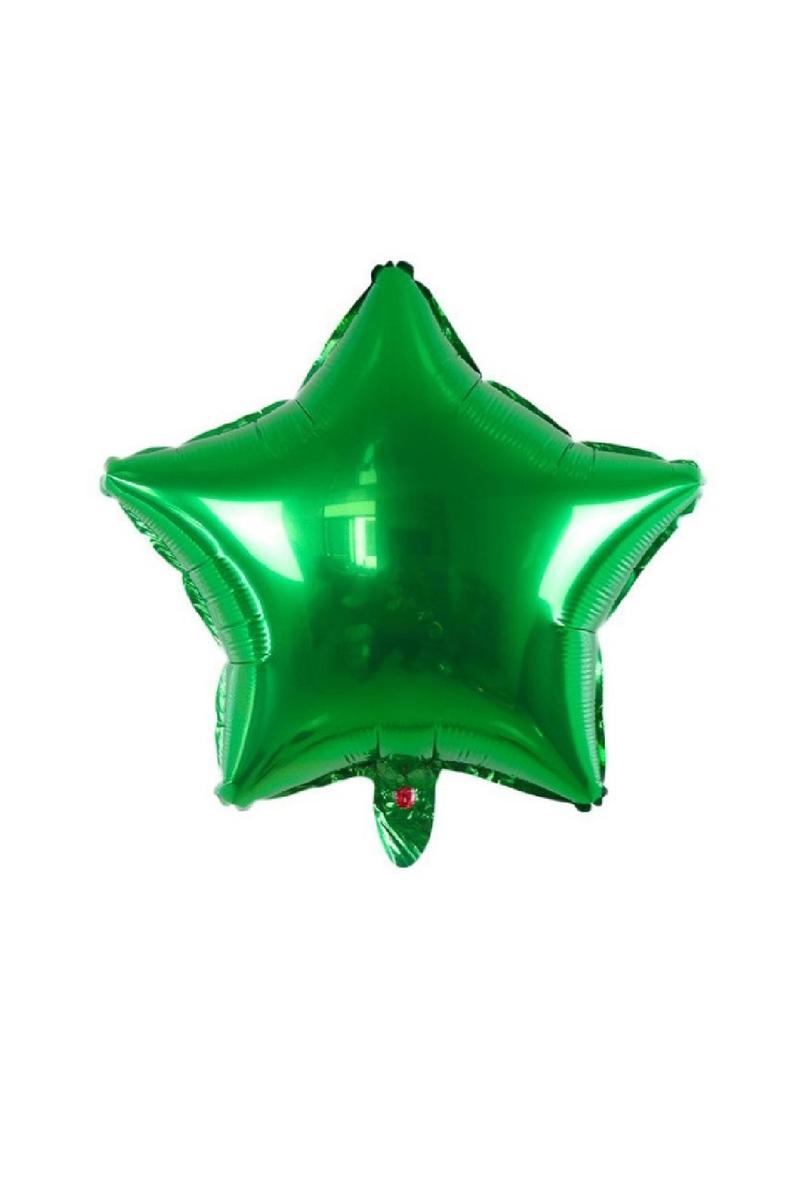 Yıldız Folyo Balon 45cm (18 inch) Koyu Yeşil 1 Adet