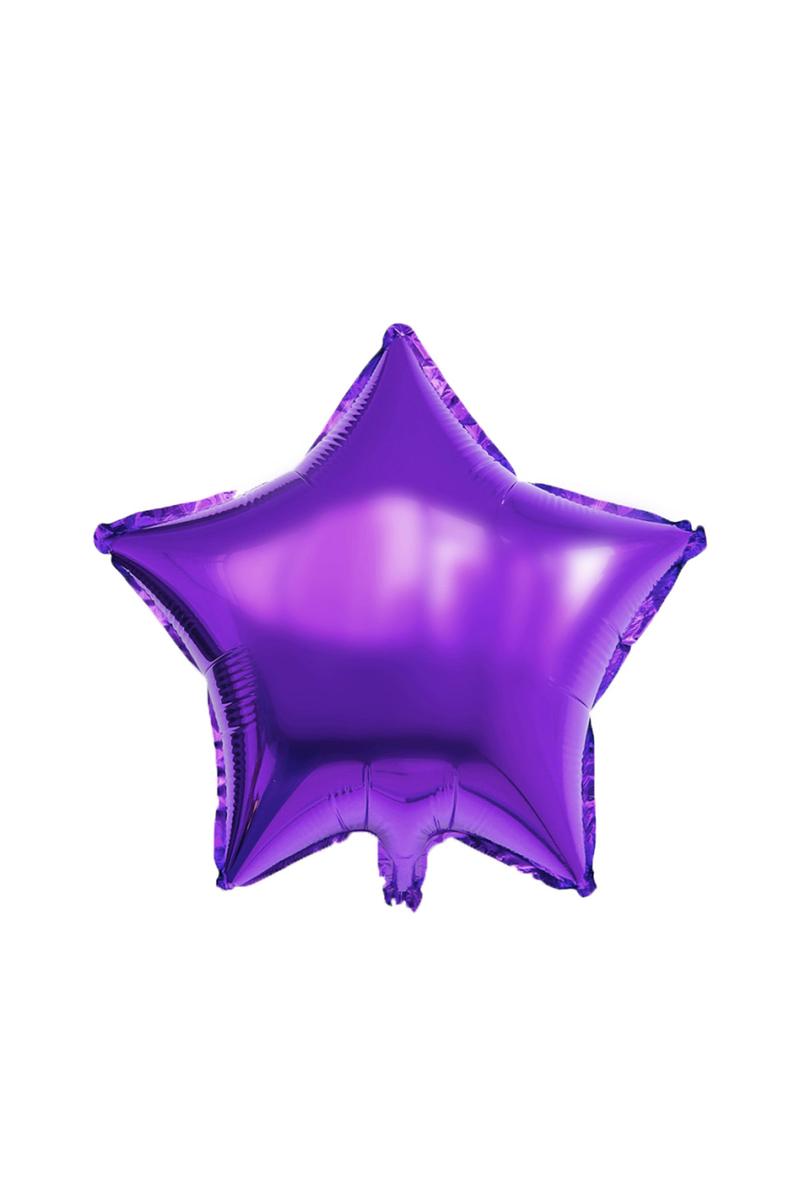 Yıldız Folyo Balon 45cm (18 inch) Mor 1 Adet