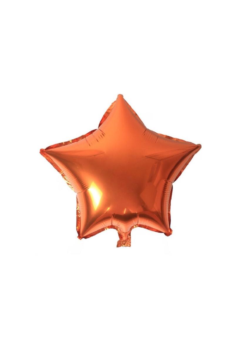 Yıldız Folyo Balon 45cm (18 inch) Turuncu 1 Adet
