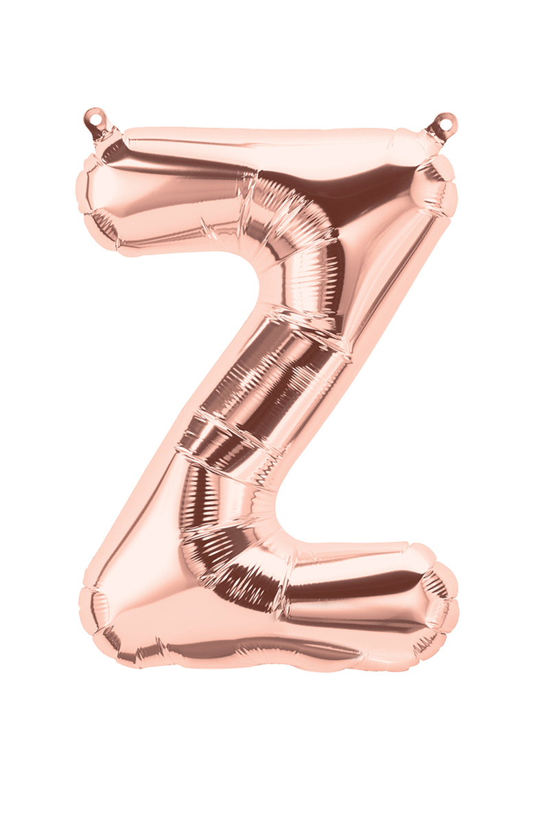 Z Harf Folyo Balon 90cm (40 inch) Rose Gold 1 Adet