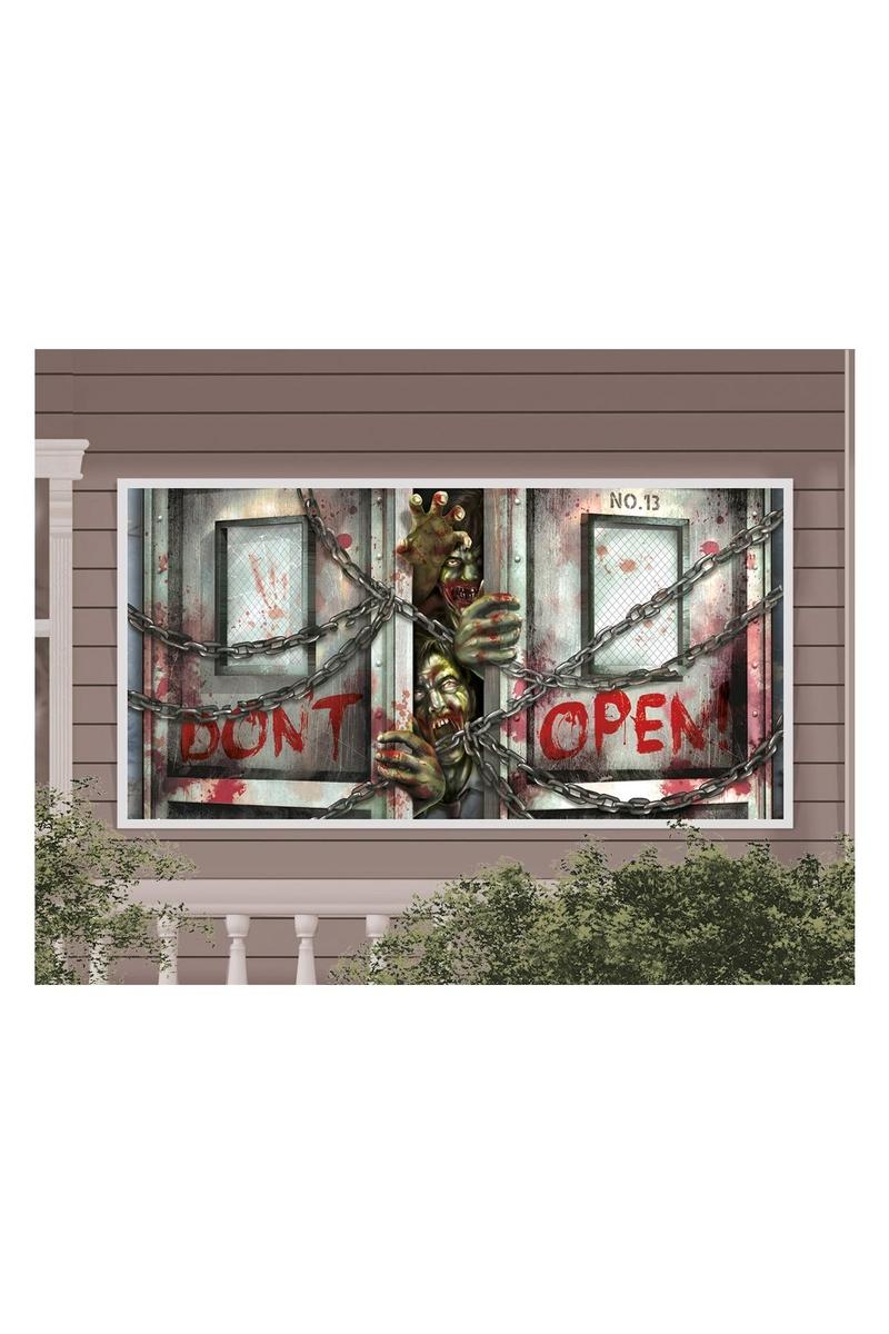 Zombiler Cadılar Bayramı Afiş Dekor 160cm x 85cm 1 Adet - Thumbnail