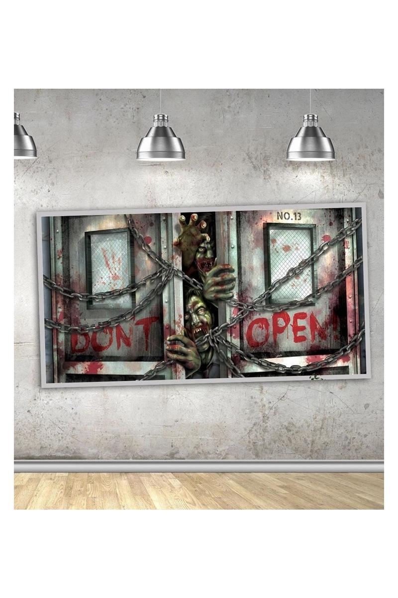Zombiler Cadılar Bayramı Afiş Dekor 160cm x 85cm 1 Adet