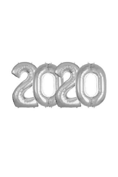 2020 Yılbaşı Gümüş Folyo Balon Set 90cm