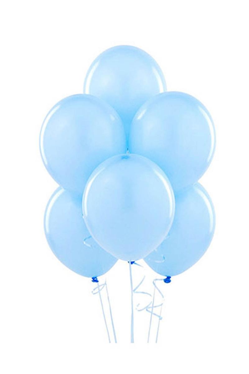 Açık Mavi Lateks Balon 30cm (12 inch) 30lu