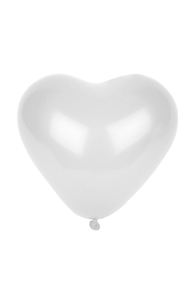 Beyaz Kalp Balon 30cm (12 inch) 50li