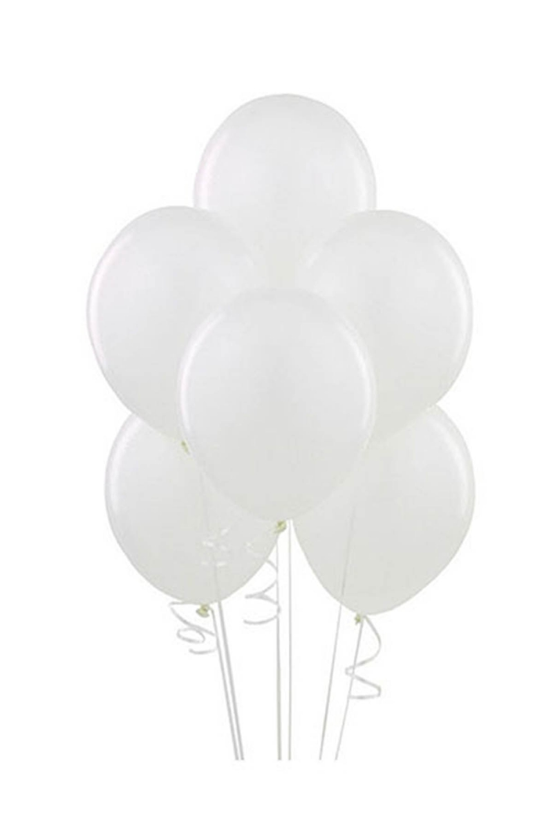 Beyaz Lateks Balon 30cm (12 inch) 50li