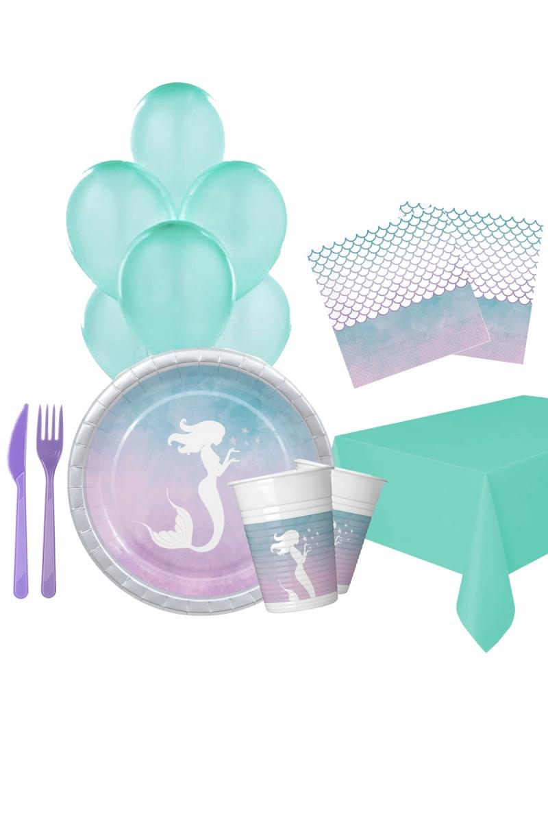 Deniz Kızı Doğum Günü Parti Seti 8 Kişilik 97 Parça