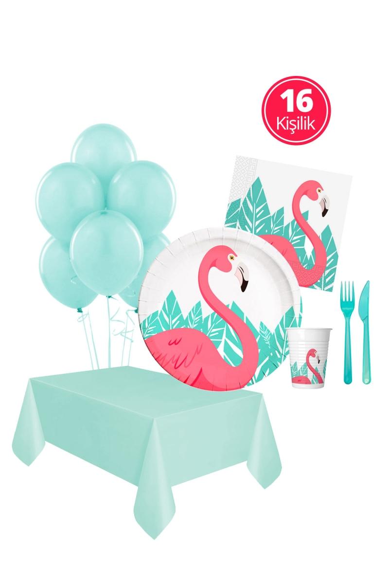 Flamingo Yaz Partisi Seti 16 Kişilik 113 Parça