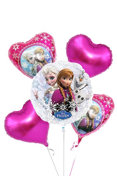 Frozen Karlar Ülkesi Kalpler Folyo Balon Set 5 Parça