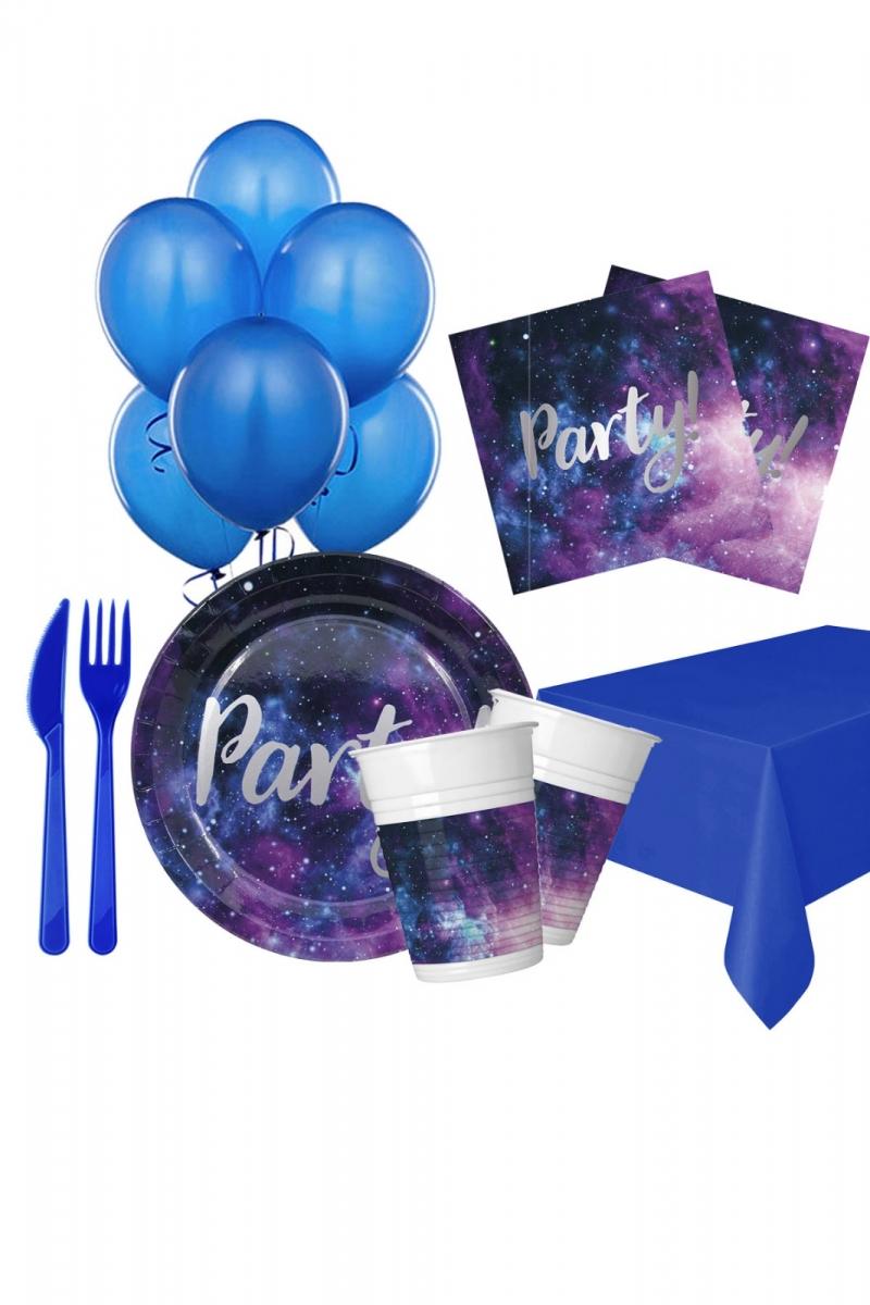 Galaksi Partisi Doğum Günü Parti Seti 8 Kişilik 97 Parça