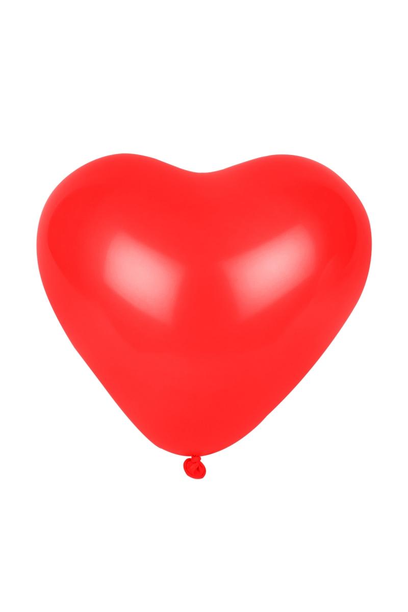 Kırmızı Kalp Balon 30cm (12 inch) 50li