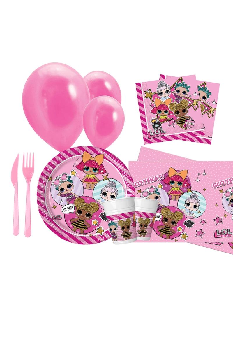 LOL Bebek Doğum Günü Parti Seti 8 Kişilik 97 Parça