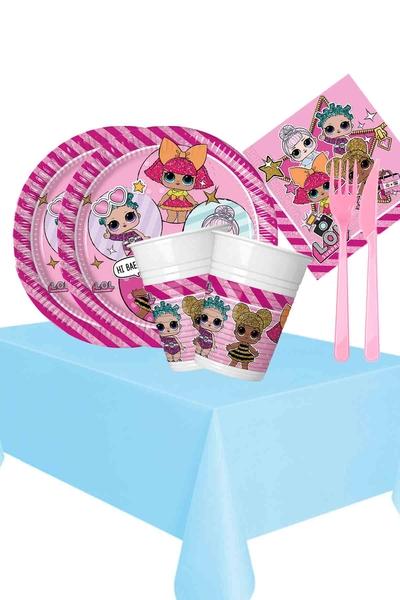 Lol Bebek Temalı Doğum Günü Seti 103 Parça 16 Kişilik Model 1