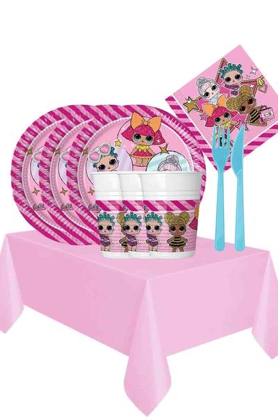 Lol Bebek Temalı Doğum Günü Seti 113 Parça 24 Kişilik Model 3