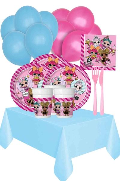 Lol Bebek Temalı Doğum Günü Seti 123 Parça 24 Kişilik Model 1