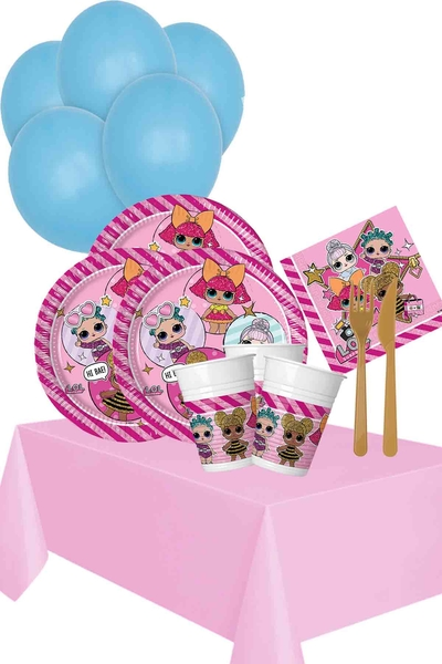 Lol Bebek Temalı Doğum Günü Seti 123 Parça 24 Kişilik Model 2