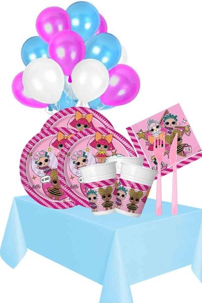 Lol Bebek Temalı Doğum Günü Seti 149 Parça 24 Kişilik Model 1