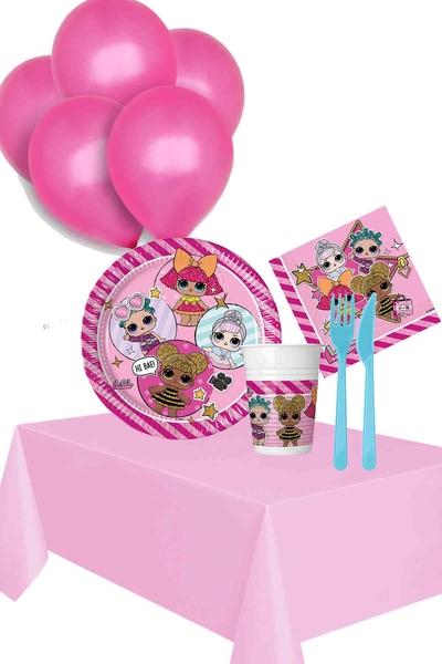 Lol Bebek Temalı Doğum Günü Seti 97 Parça 8 Kişilik Model 3
