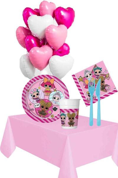 Lol Bebek Temalı Doğum Günü Seti 98 Parça 8 Kişilik Model 3
