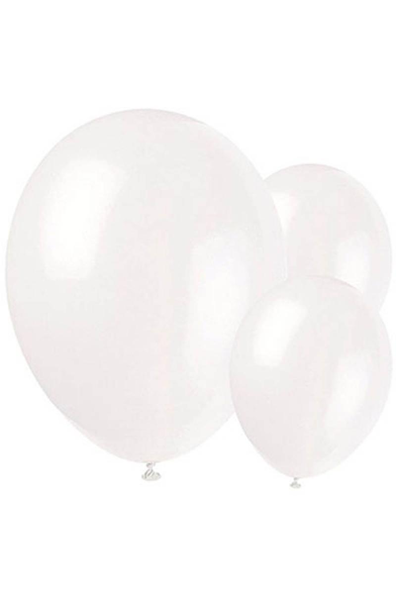 Metalik Beyaz Balon 30cm (12 inch) 20li