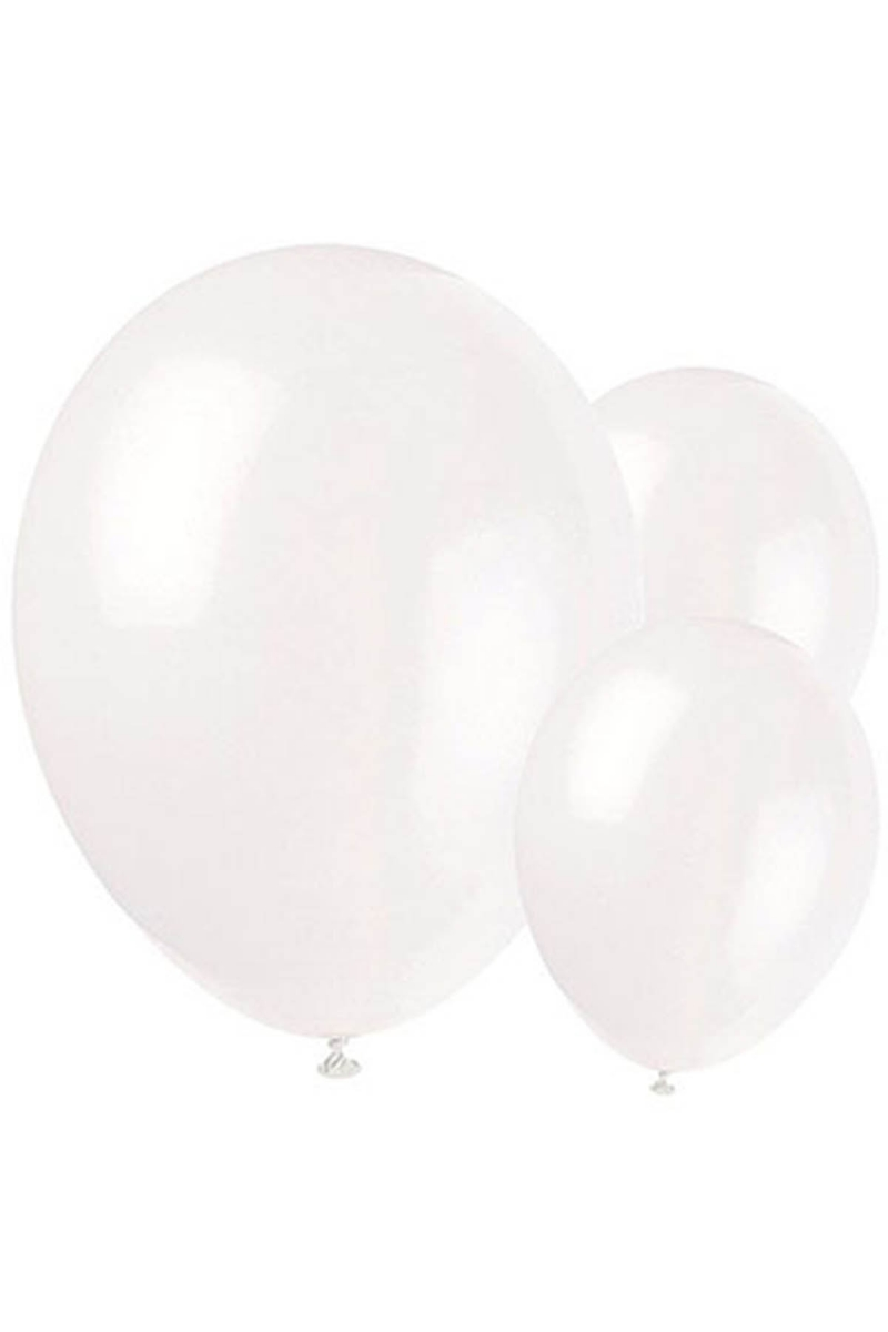Metalik Beyaz Balon 30cm (12 inch) 50li